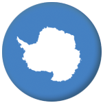 Antarctica Country Flag 25mm Flat Back
